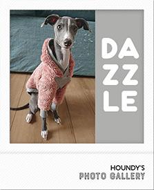 ダズルちゃん フリース フーディ イタグレ Italian Greyhound Clothing